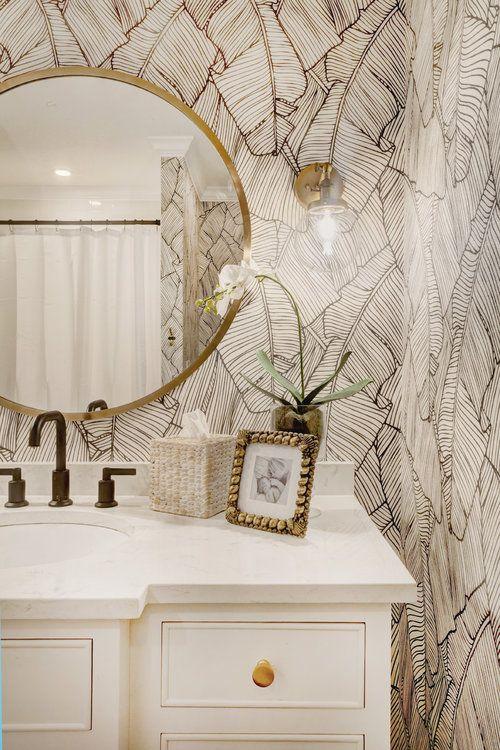 Baño para invitados con mucho estilo