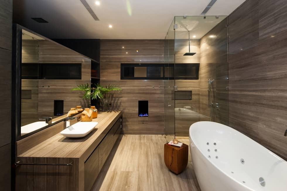 Baños con regadera modernos y fabulosos en cubo