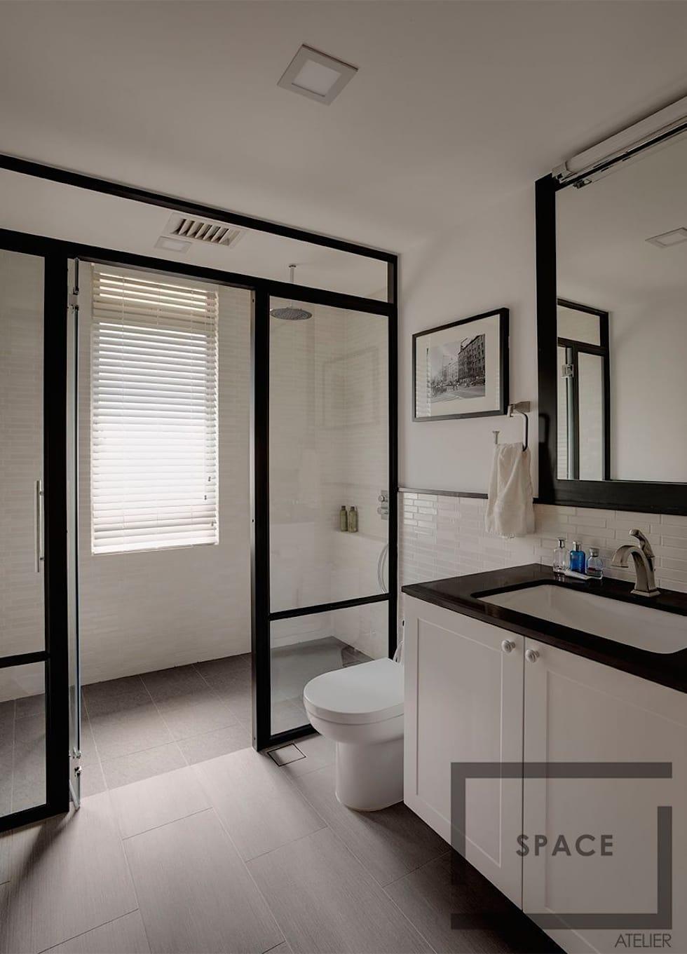 Baños con regadera modernos y fabulosos enmarcado