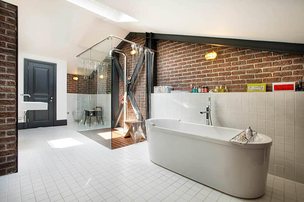Baños con regadera modernos y fabulosos estilo industrial