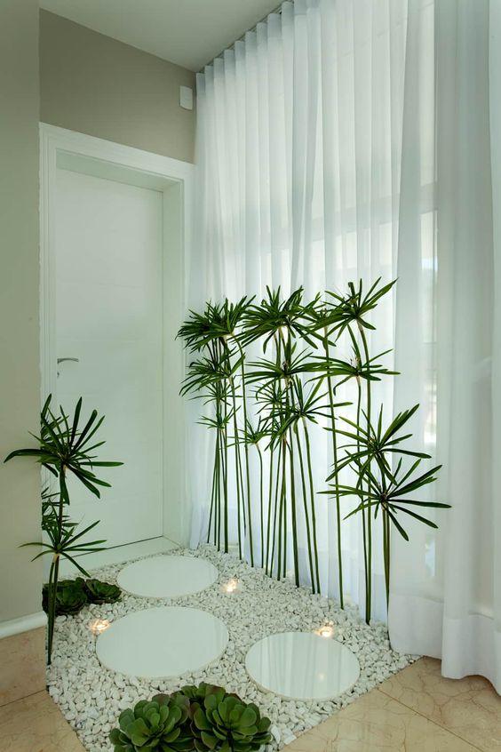 Diseños de jardines para interiores en entrada