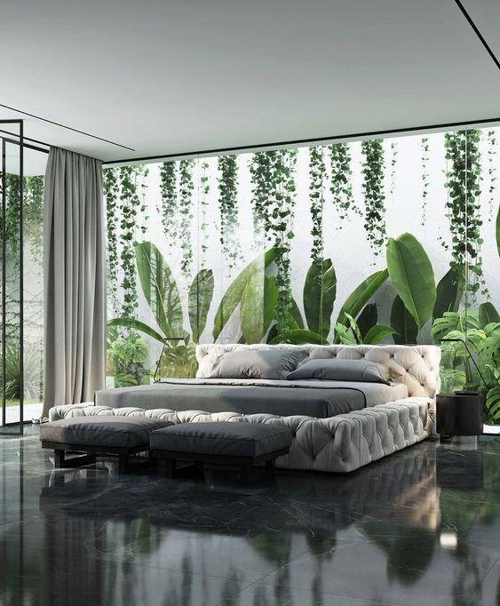 Diseños de jardines para interiores en recámara