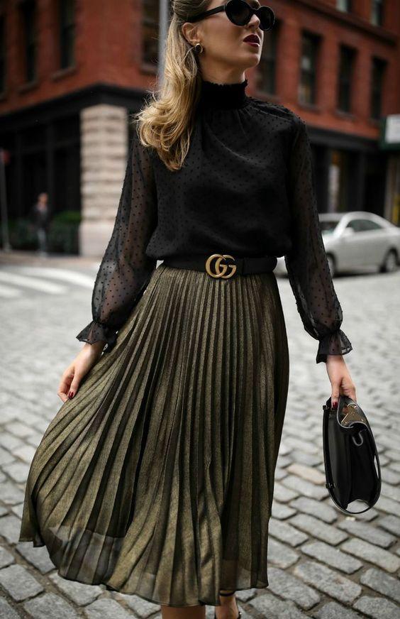 Falda cómoda pero con estilo para mujer de 40 años o más