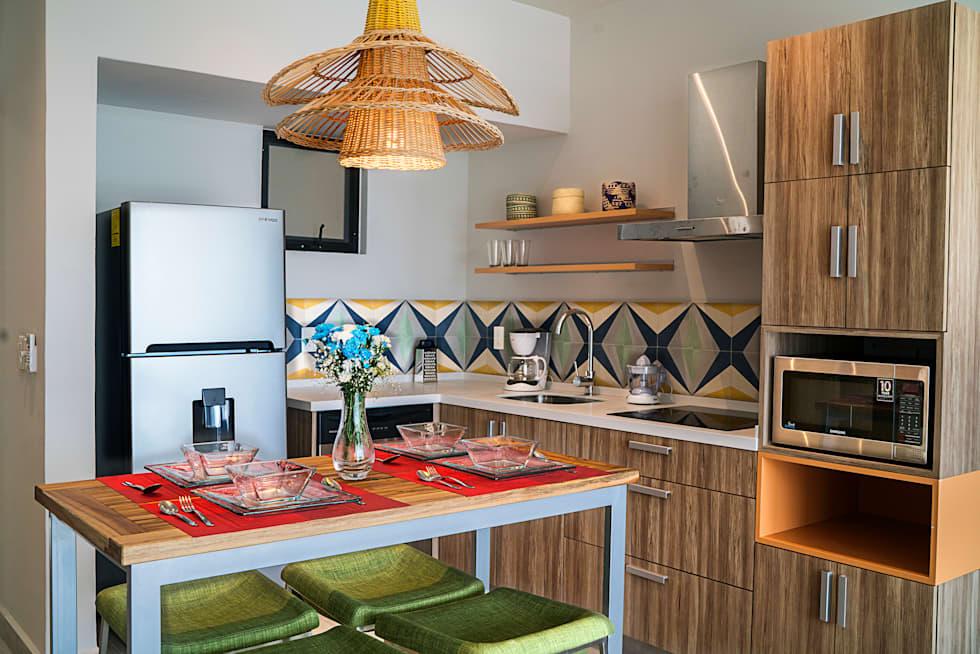 Ideas fabulosas para revestir las paredes de tu cocina con baldosas en diseños geométricos