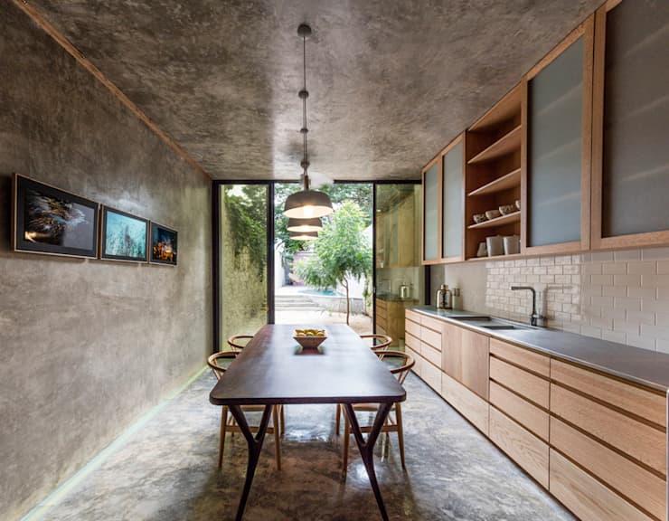 Ideas fabulosas para revestir las paredes de tu cocina con concreto