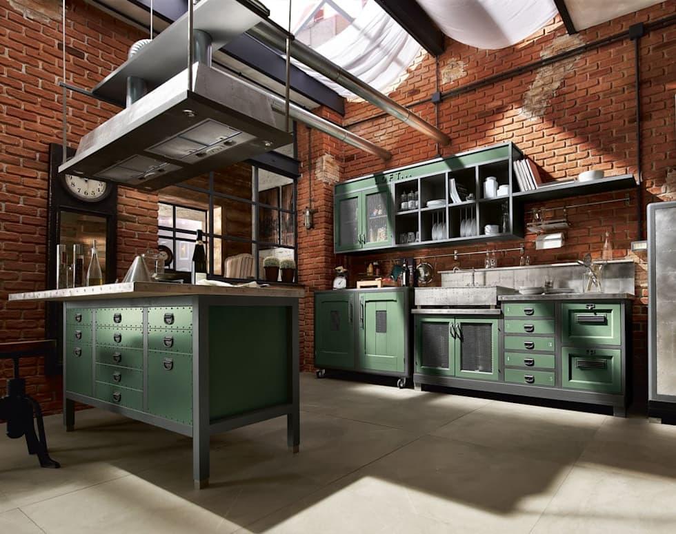 Ideas fabulosas para revestir las paredes de tu cocina con ladrillo estilo industrial