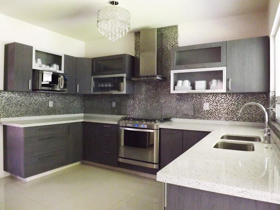 Ideas fabulosas para revestir las paredes de tu cocina de azulejos en mosaico