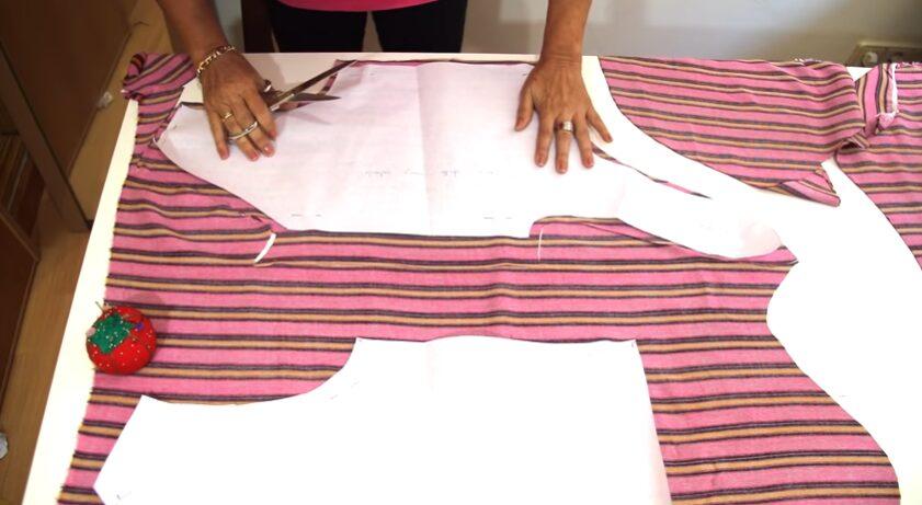 Patrón de blusa atada a la cintura patrones