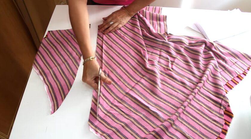 Patrón de blusa atada a la cintura escote