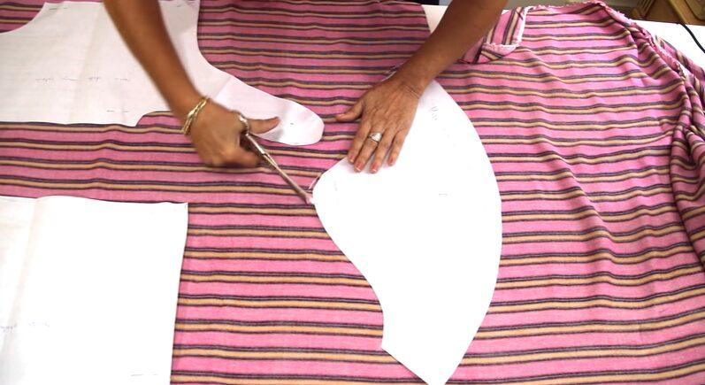Patrón de blusa atada a la cintura formas