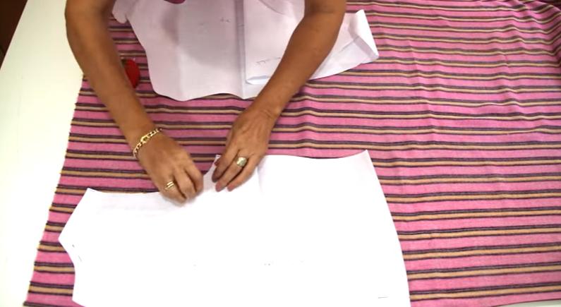 Patrón de blusa atada a la cintura medidas