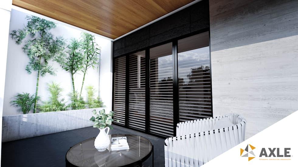 Proyecto para una residencia de estilo moderno contemporáneo balcón
