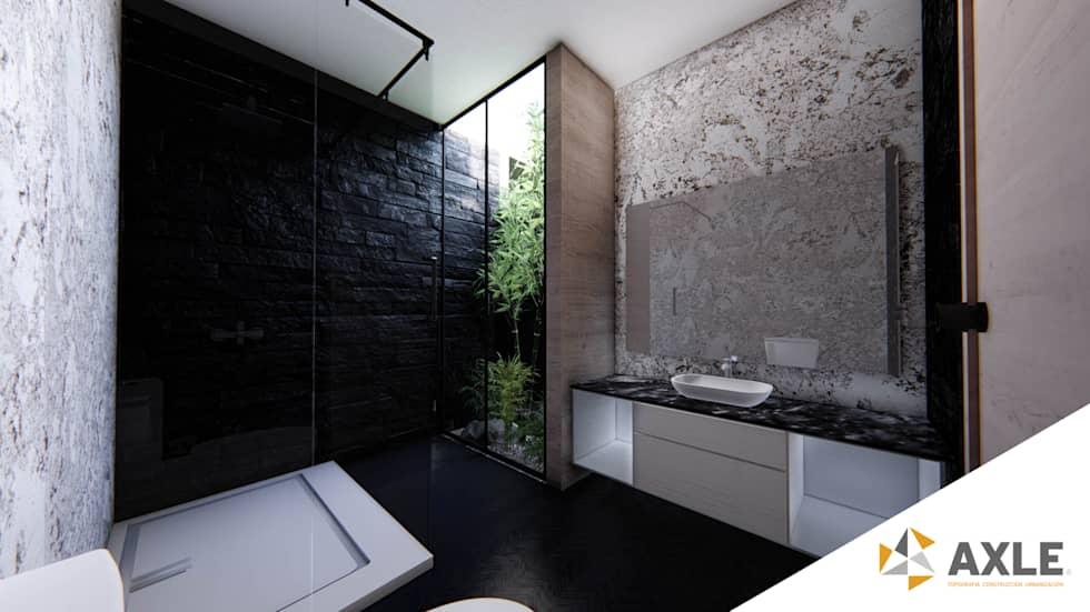 Proyecto para una residencia de estilo moderno contemporáneo baño principal
