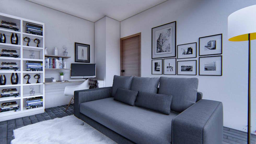 Proyecto para una residencia de estilo moderno contemporáneo sala de estar