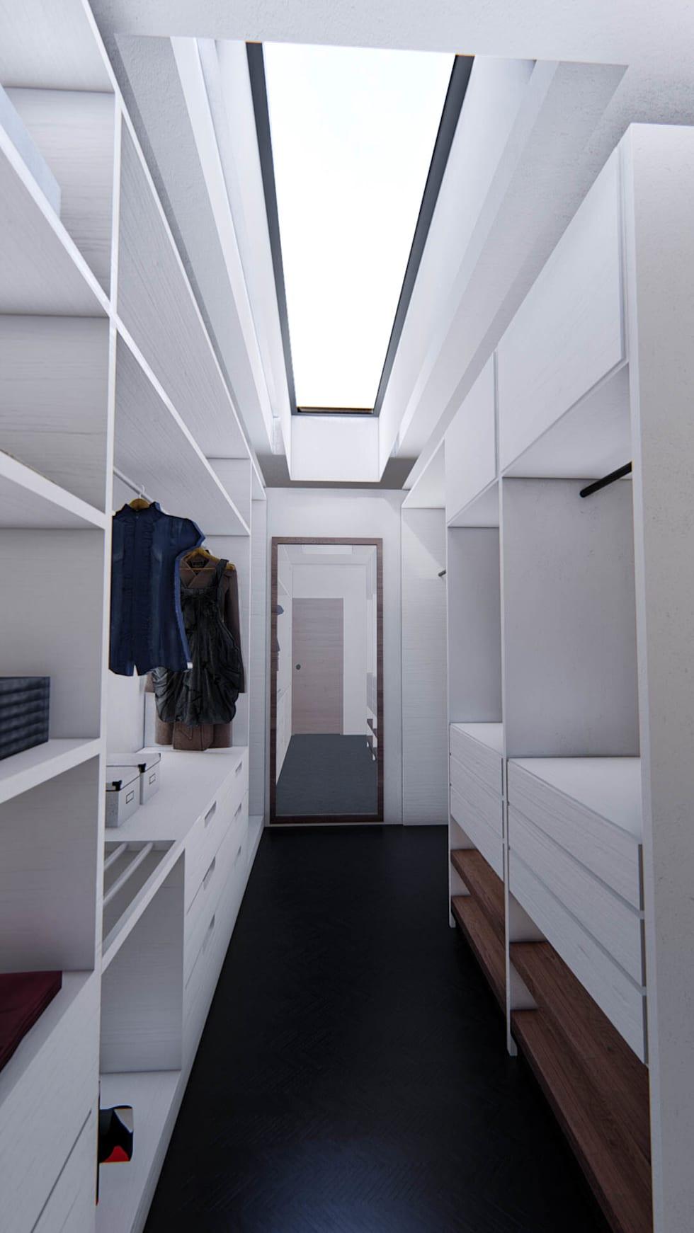 Proyecto para una residencia de estilo moderno contemporáneo vestidor