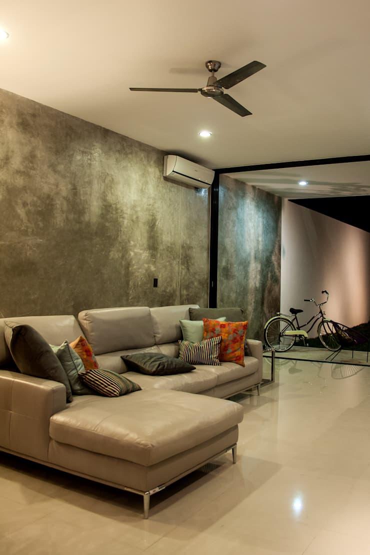 Sala de estar para casa pequeña