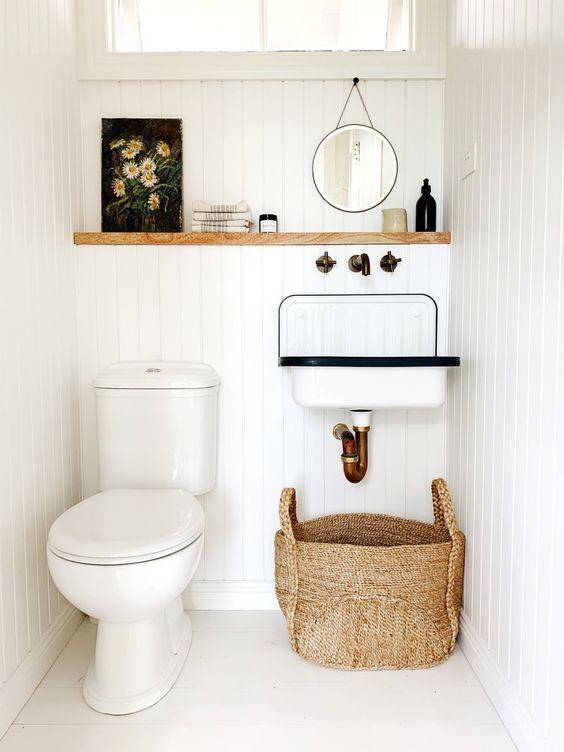 Tonos claros para decorar el baño