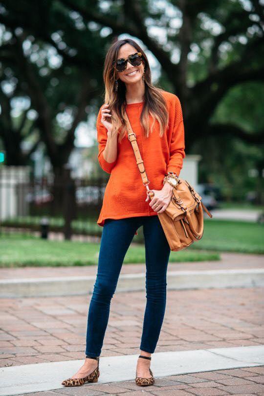 Blusón para el otoño con leggins