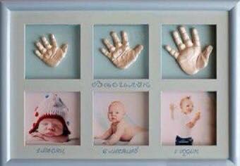 Decorar con huellas de crecimiento del bebé