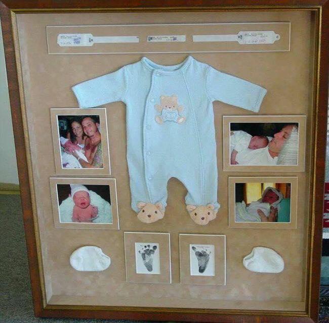 Fotografías y primeros artículos del bebé para enmarcar