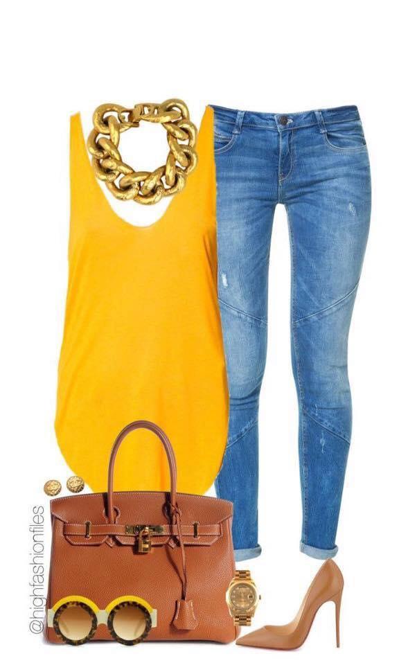 Inspiración para outfit de combinaciones color mostaza y camel