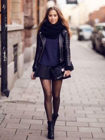 Outfit casual para tendencia en otoño con medias