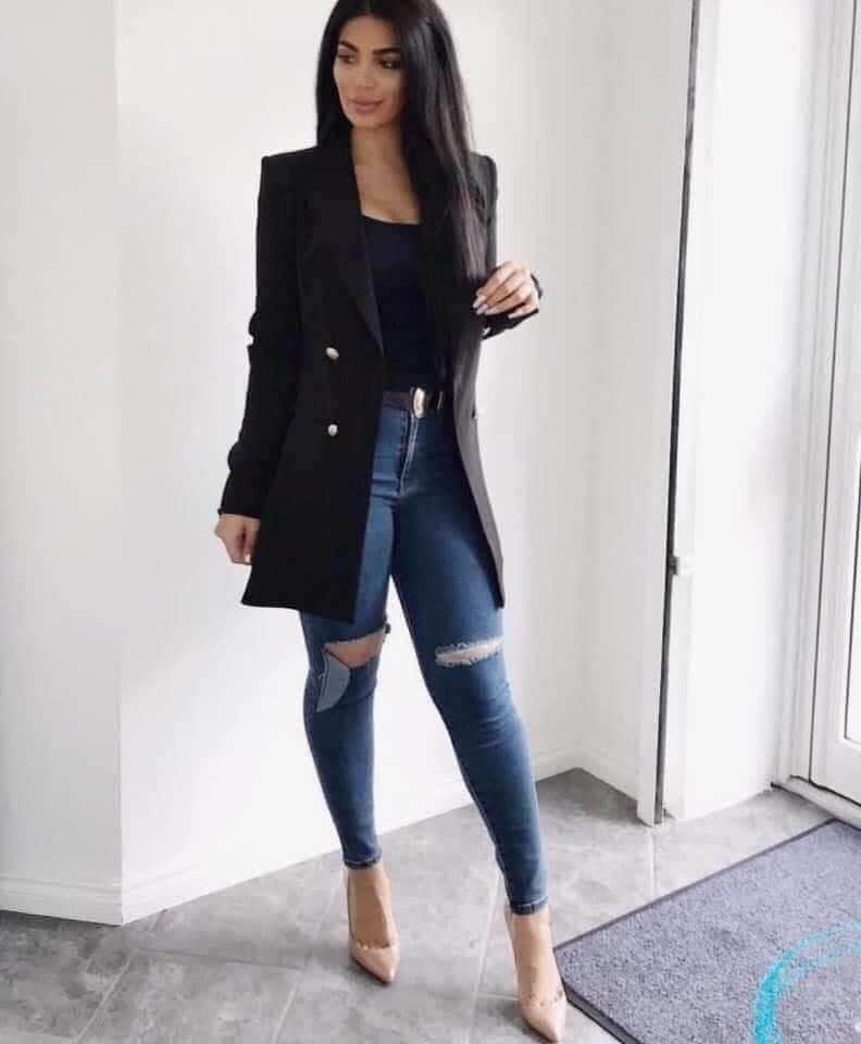 Outfit de invierno casual para mujeres modernas