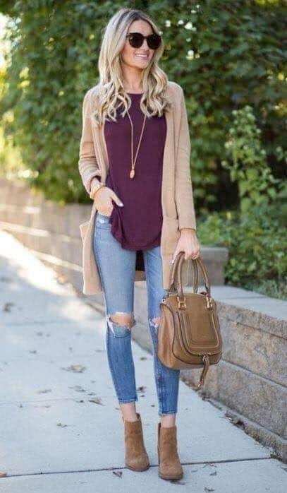 Outfit de invierno para mujeres modernas con color