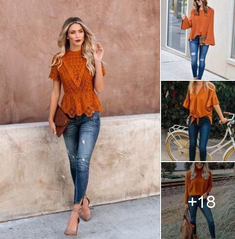 Outfits con color para el otoño para mujeres jóvenes y maduras