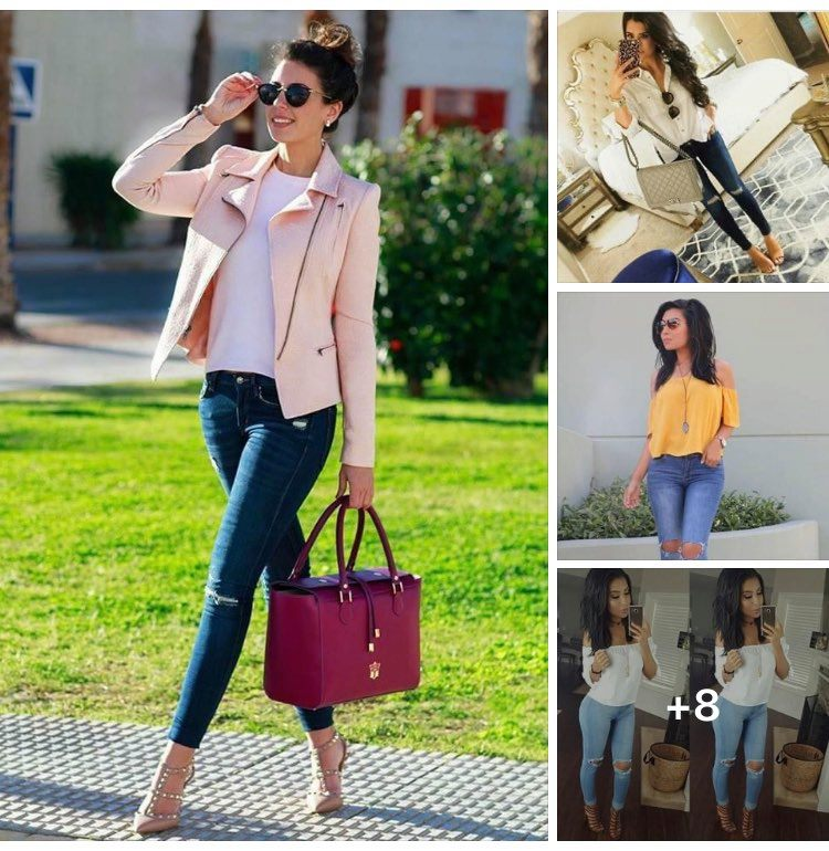 Outfits con jeans rotos
