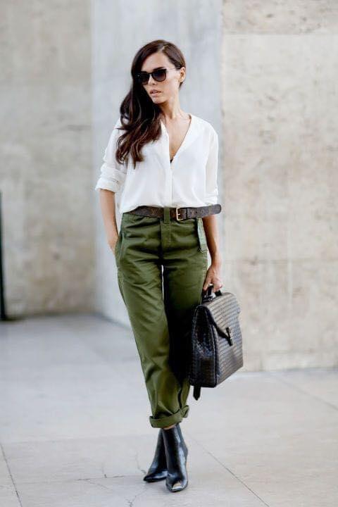 Outfits En Verde Militar Para Mujeres Como Organizar La Casa