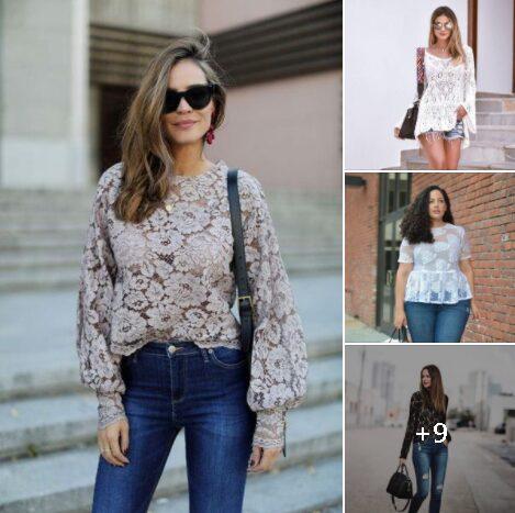 Bellísimas blusas de encaje para mujeres de 40 años o más