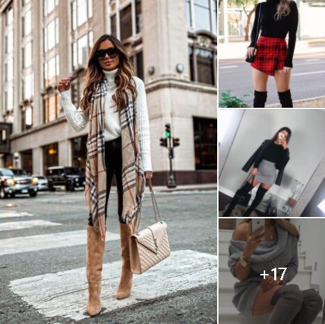 Botas altas para outfit de mujeres maduras