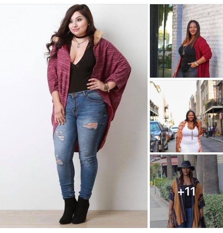 Ideas de outfits con suéter largo si eres una chica con curvas