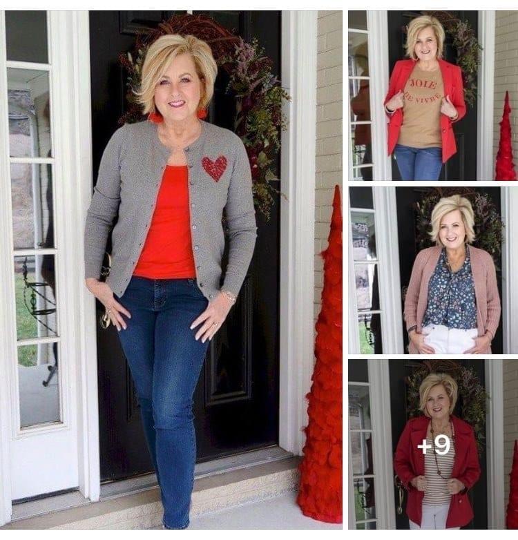 Ideas para combinar blazer y suéter largo para mujeres de 50 años