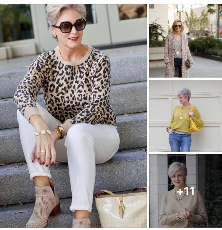 Inspiración de outfits de mujeres maduras de 50 o más