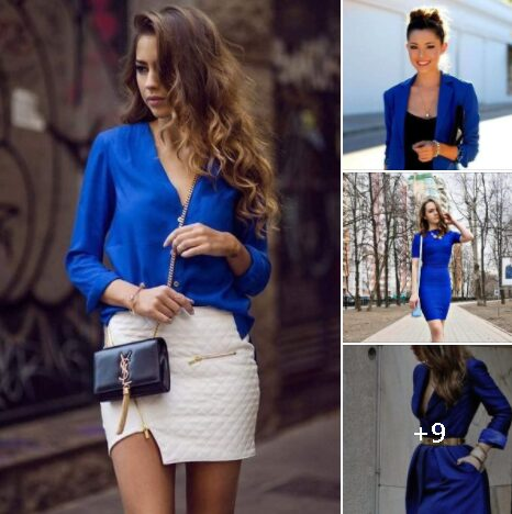 Looks con color azul para mujeres maduras de 40 años o mas