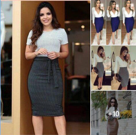 Looks para mujeres maduras con faldas tipo lapiz