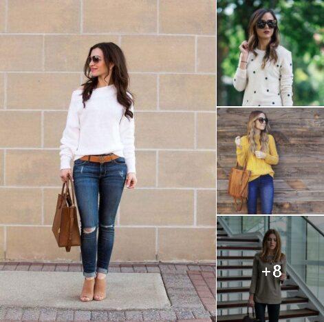 Outfits con suéter para mujeres maduras de 40 años o más
