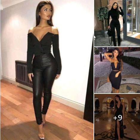 Outfits en color negro para mujeres de 40 años o más