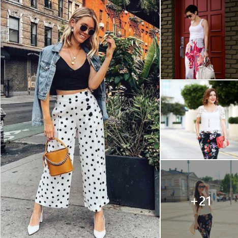 Pantalones Estampados Para Mujeres de 40 Años o Mas