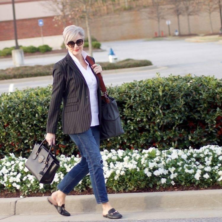 Saco para look semi formal de mujeres maduras y modernas