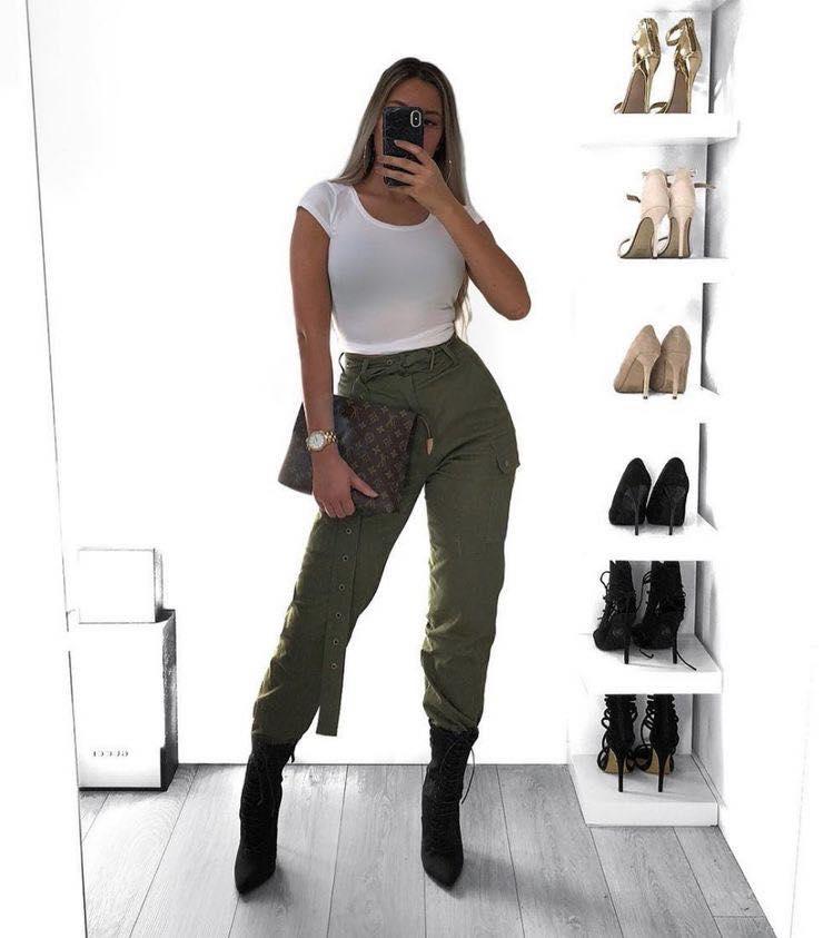 Ideas De Outfits Con Pantalones Verde Militar 2 Como Organizar La Casa