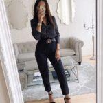 Outfits color negro para invierno
