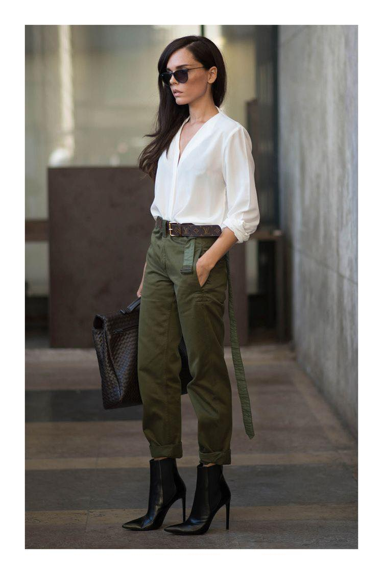 Ideas De Outfits Con Pantalones Verde Militar Como Organizar La Casa