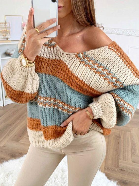 Sweaters tejidos para invierno