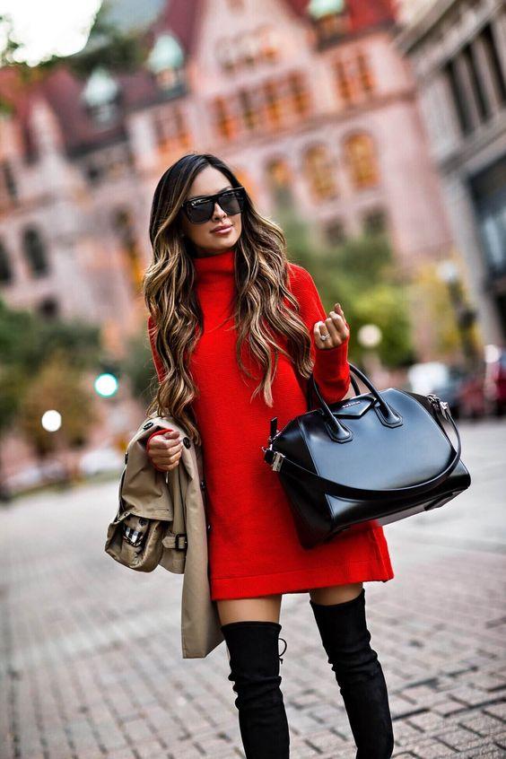 Outfits de invierno en rojo