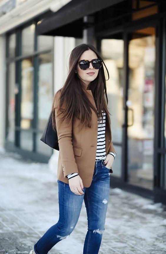 Blazers marrón para mujeres maduras