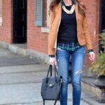 Looks con blazers marrón y jeans de mezclilla