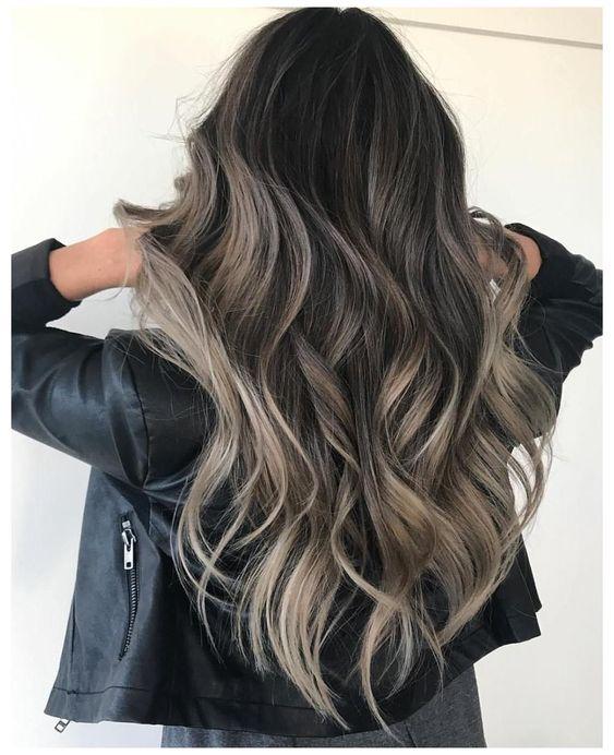 Luces para cabello negro largo